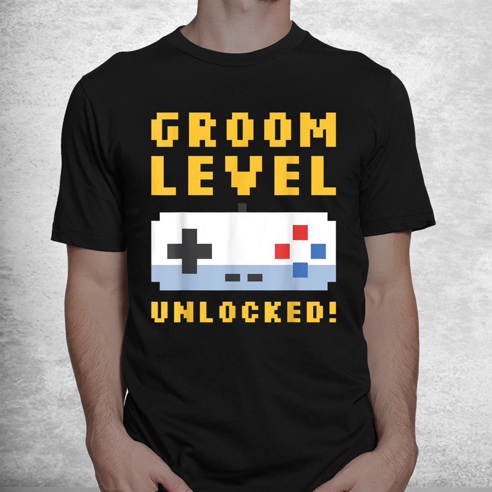 Groom Level Unlocked Bachelor Party Stag Groomsmen Getaway Shirt