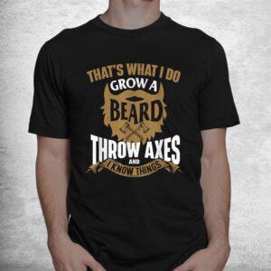 grow a beard throw axes axe throwing hatchet lumberjack shirt 1