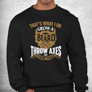grow a beard throw axes axe throwing hatchet lumberjack shirt 2