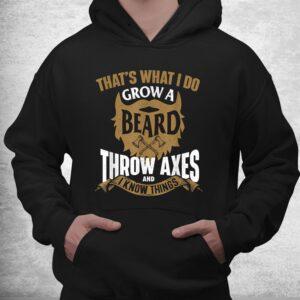 grow a beard throw axes axe throwing hatchet lumberjack shirt 3