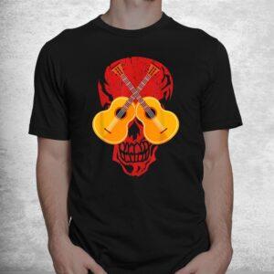 guitarist musician music skull guitar halloween costume shirt 1