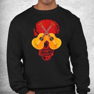 guitarist musician music skull guitar halloween costume shirt 2