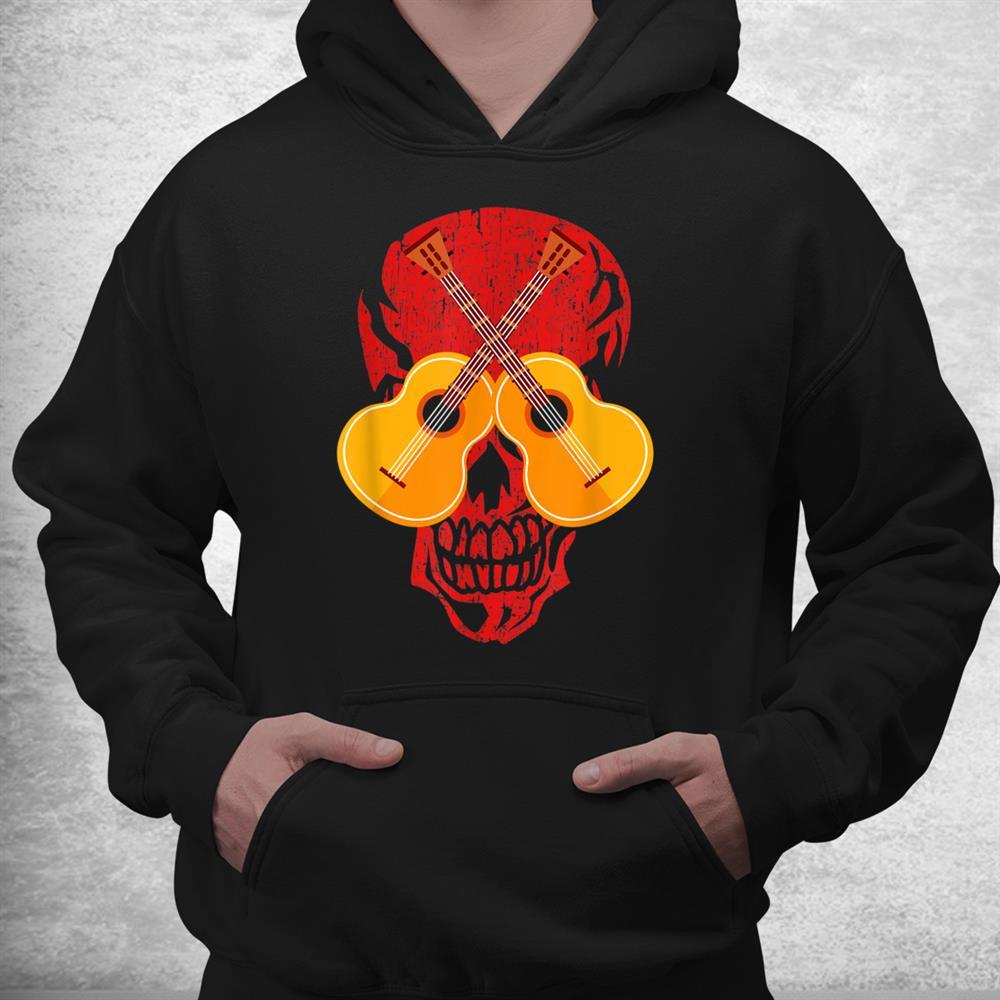 Guitarist Musician Music Skull Guitar Halloween Costume Shirt