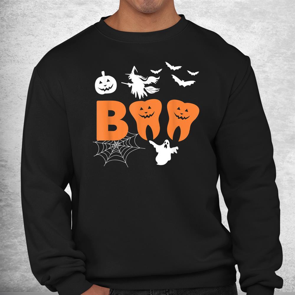 Halloween Boo Spooky Dentist Carved Pumpkin Teeth Love Shirt