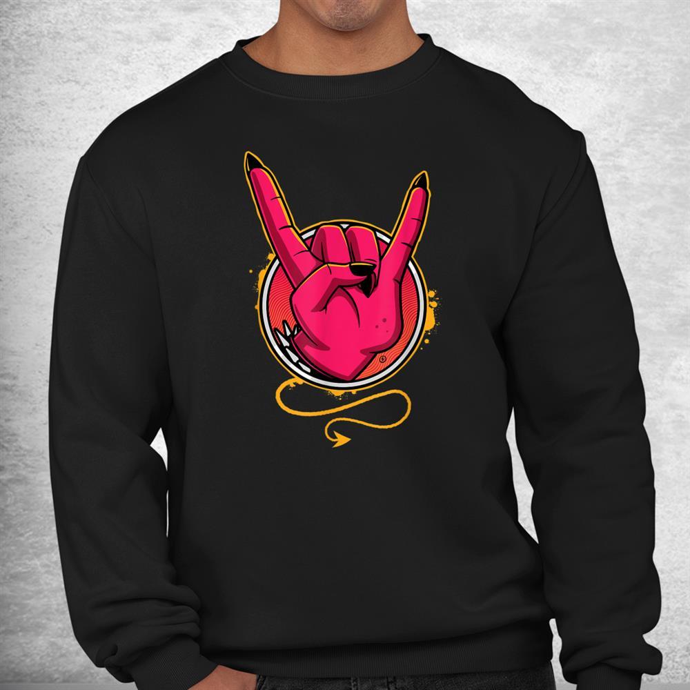 Heavy Metal Devil Horns Shirt
