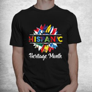 hispanic heritage month woman latino countries flag shirt 1