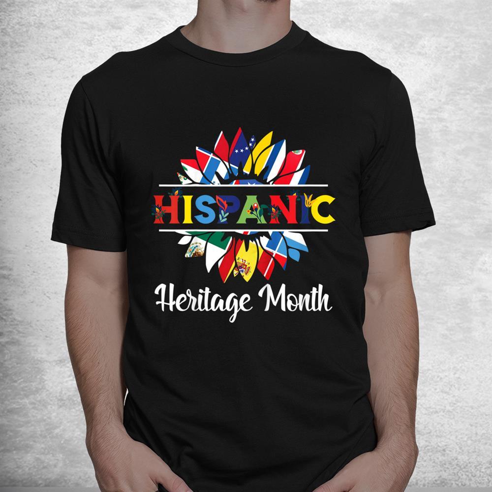 Hispanic Heritage Month Woman Latino Countries Flag Shirt