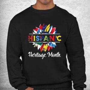 hispanic heritage month woman latino countries flag shirt 2