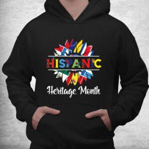 hispanic heritage month woman latino countries flag shirt 3