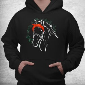 horse with bandana for horse lover shirt 3