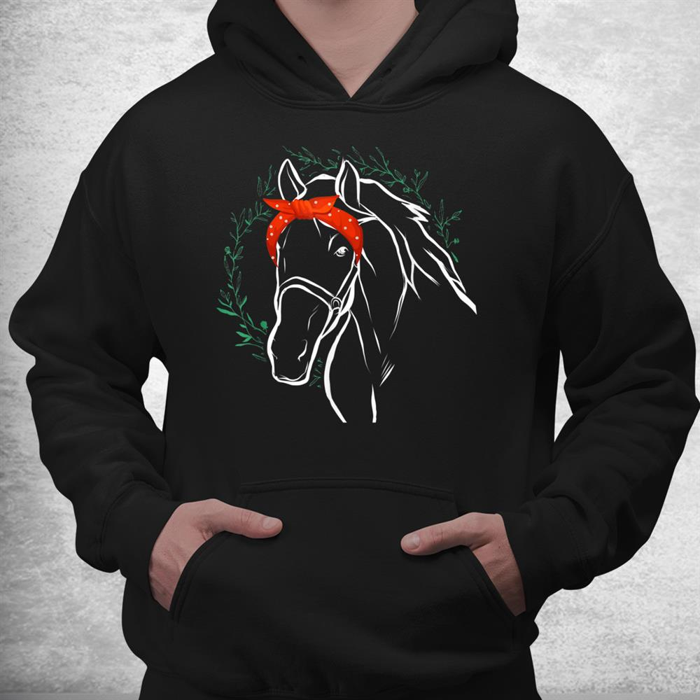 Horse With Bandana For Horse Lover Shirt