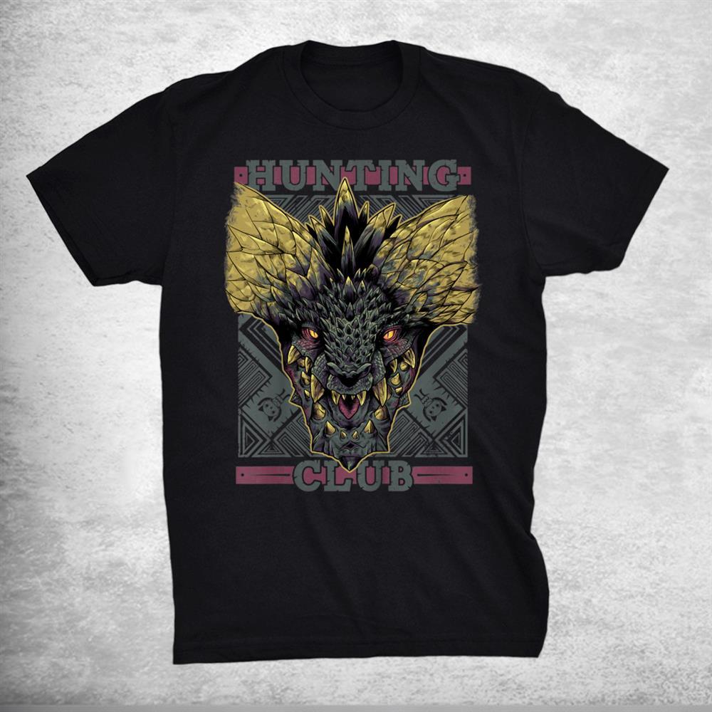 Hunting Club Nergigante Monster Gaming Hunter World Dragon Shirt