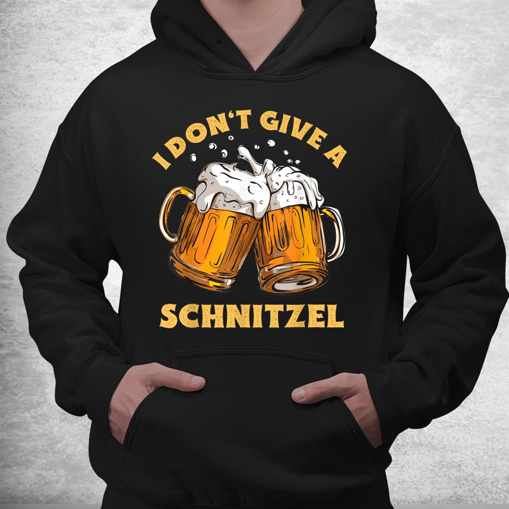 I Dont Give A Schnitzel Germany Oktoberfest Distressed Shirt