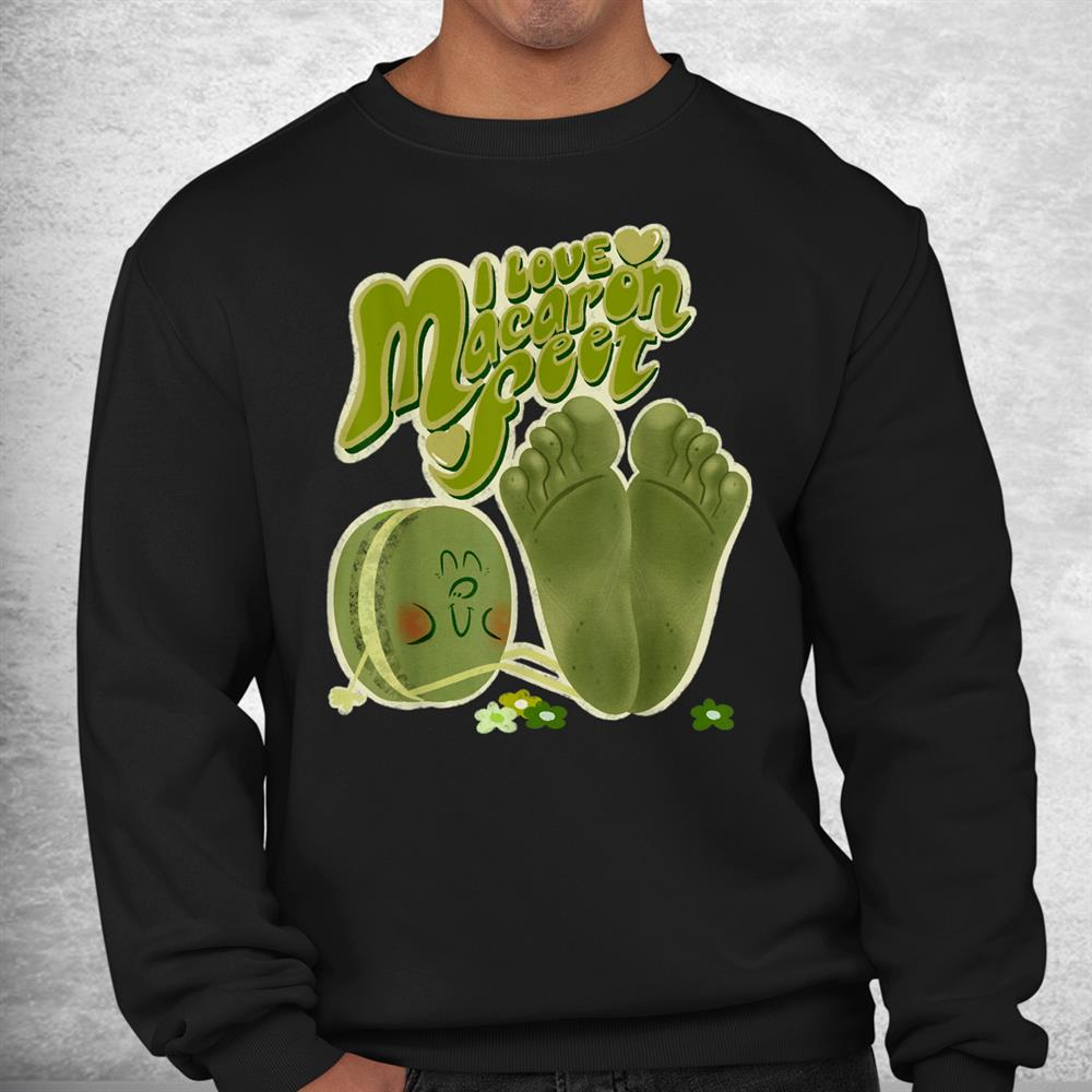 I Love Macaron Feet Matcha Green Tea Shirt