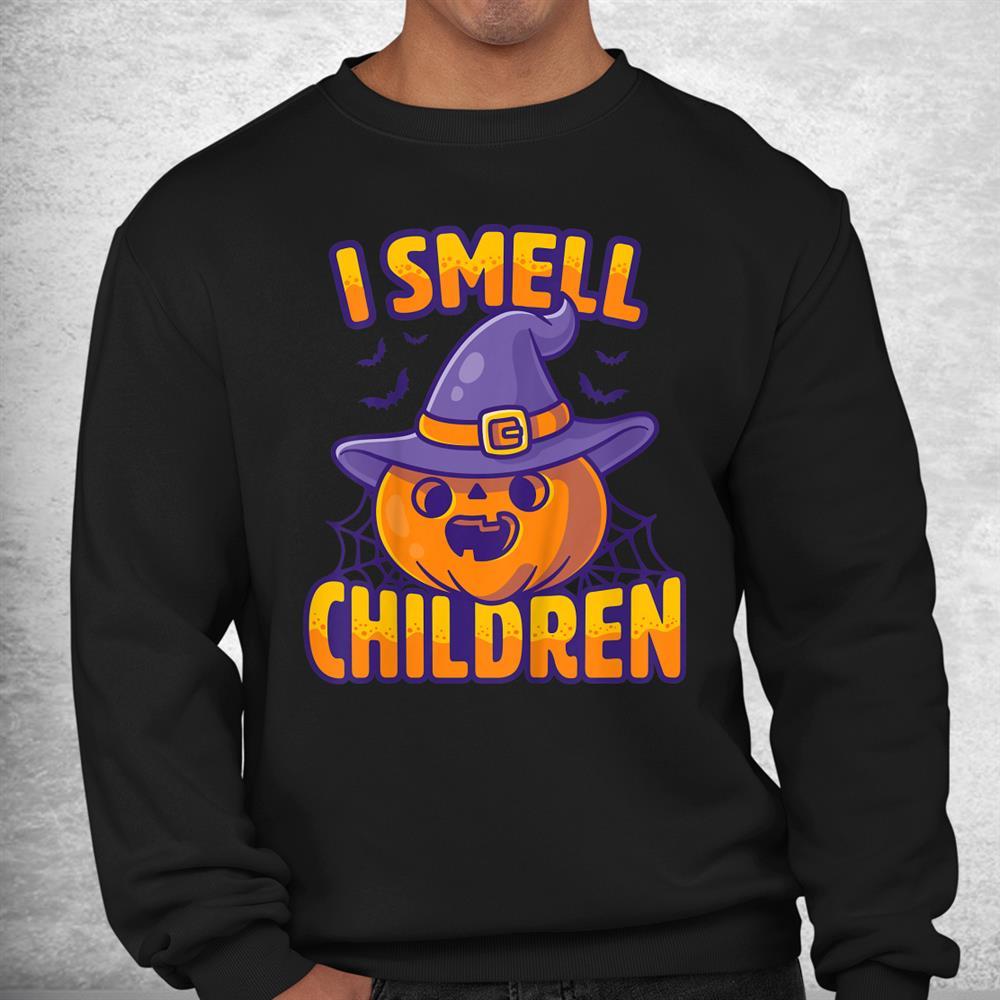 I Smell Children Funny Dad Mom Teacher Halloween Costume Shirt