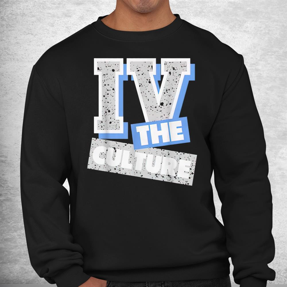 Iv The Culture Graphic Match Blue Sneaker University Shirt