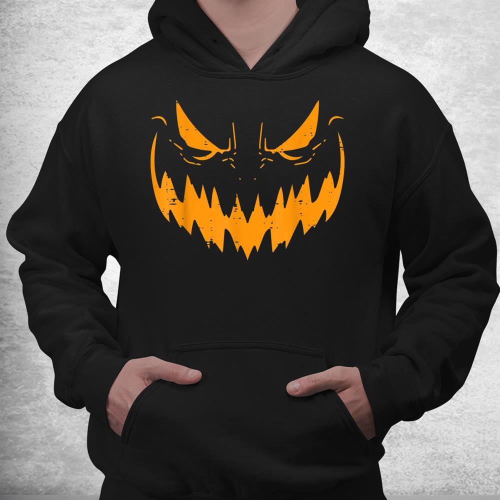 Jack O Lantern Face Scary Pumpkin Halloween Shirt