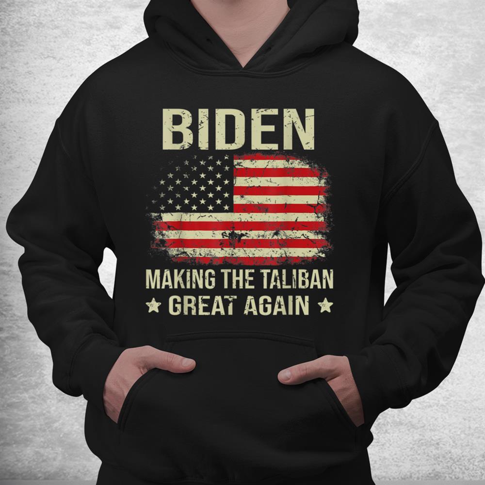 Joe Biden Making The Ta Li Bans Great Again American Flag Shirt