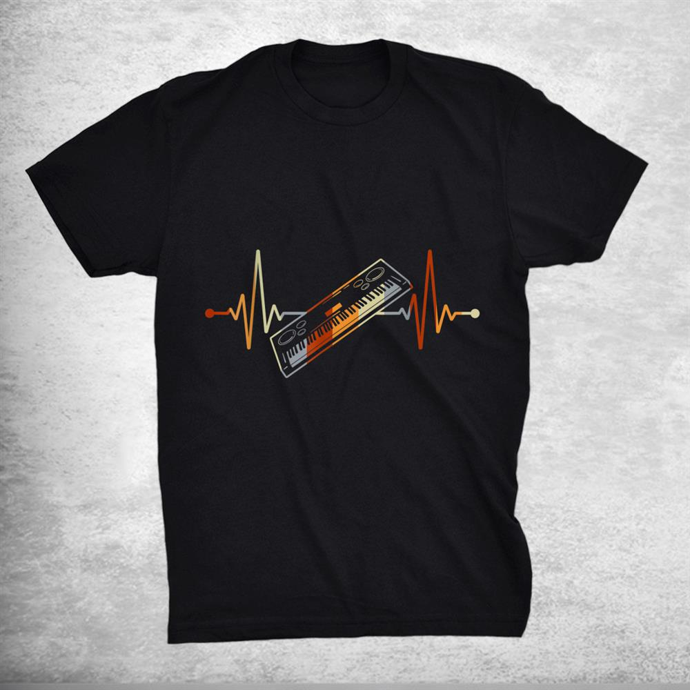 Keyboard Gift For Pianist Heart Line Piano Shirt