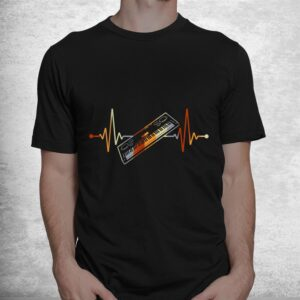 keyboard gift for pianist heart line piano shirt 1
