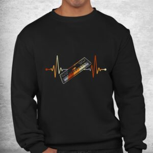 keyboard gift for pianist heart line piano shirt 2