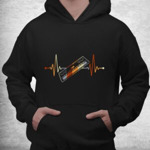 keyboard gift for pianist heart line piano shirt 3