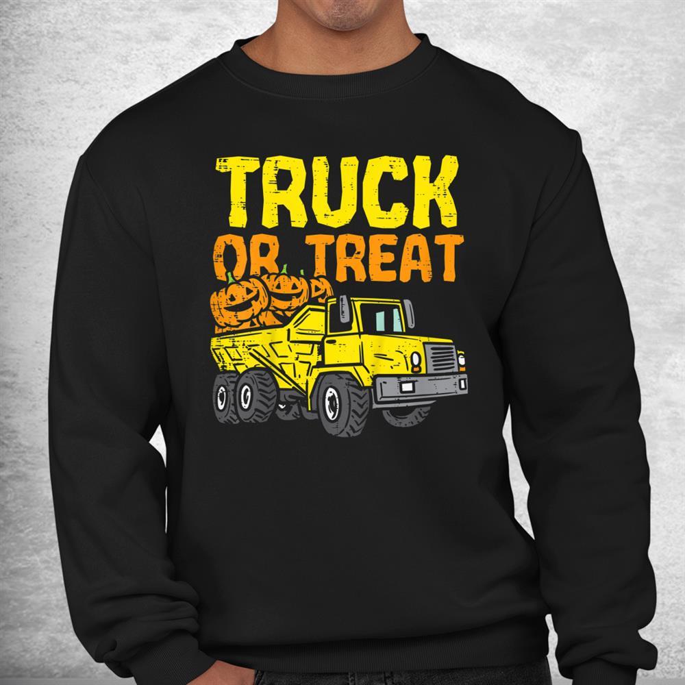 Kids Truck Or Treat Pumpkins Toddler Boys Halloween Shirt