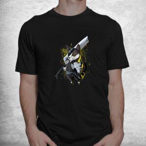 killer cat sword japanese warrior aesthetic edgy streetwear shirt 1