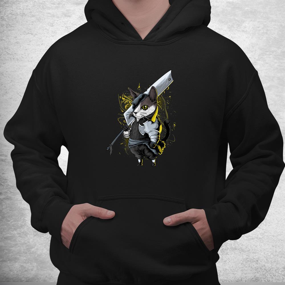 Killer Cat Sword Japanese Warrior Aesthetic Edgy Streetwear Shirt