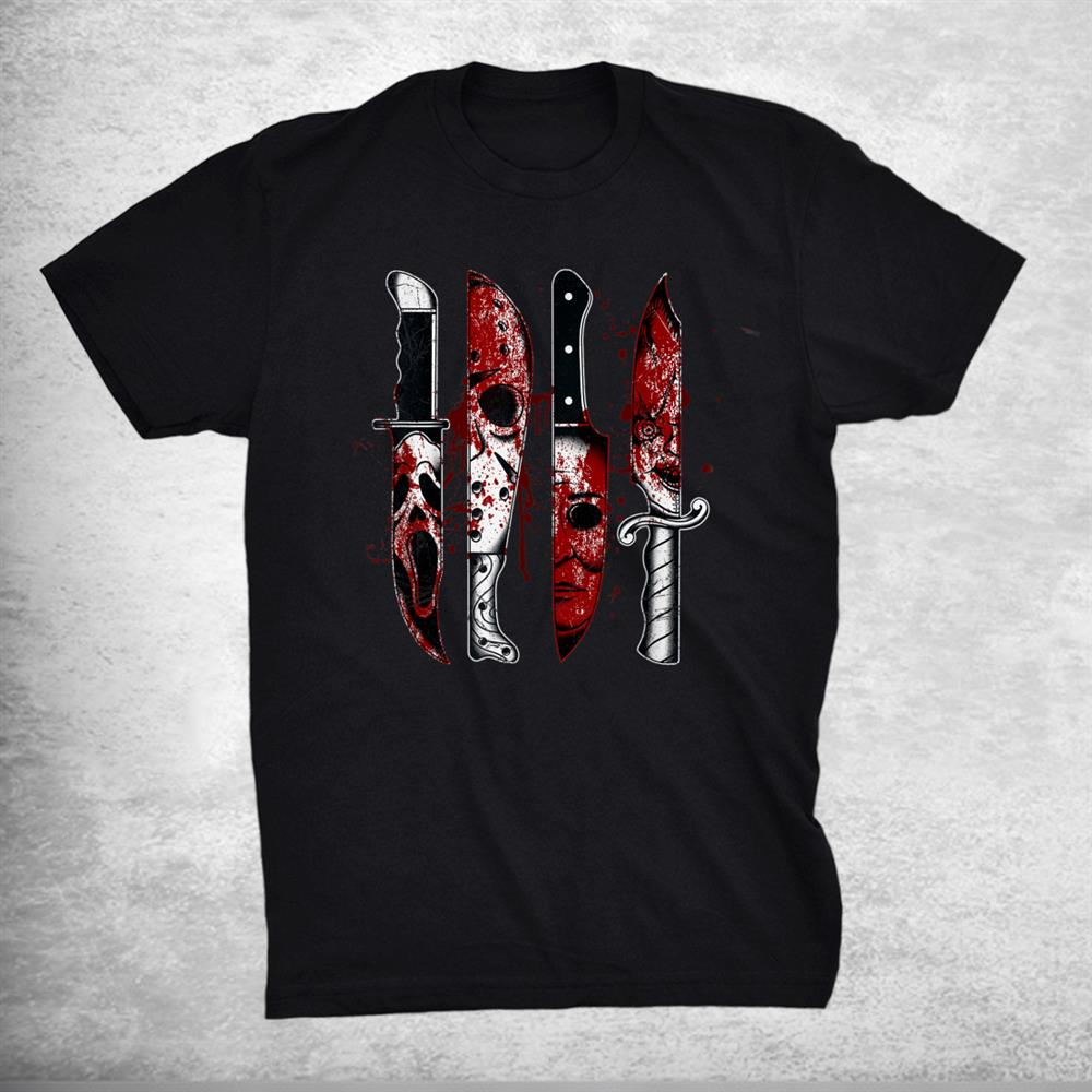 Knives Horror Movie Friday 13 Halloween Horror Goth Evil Shirt