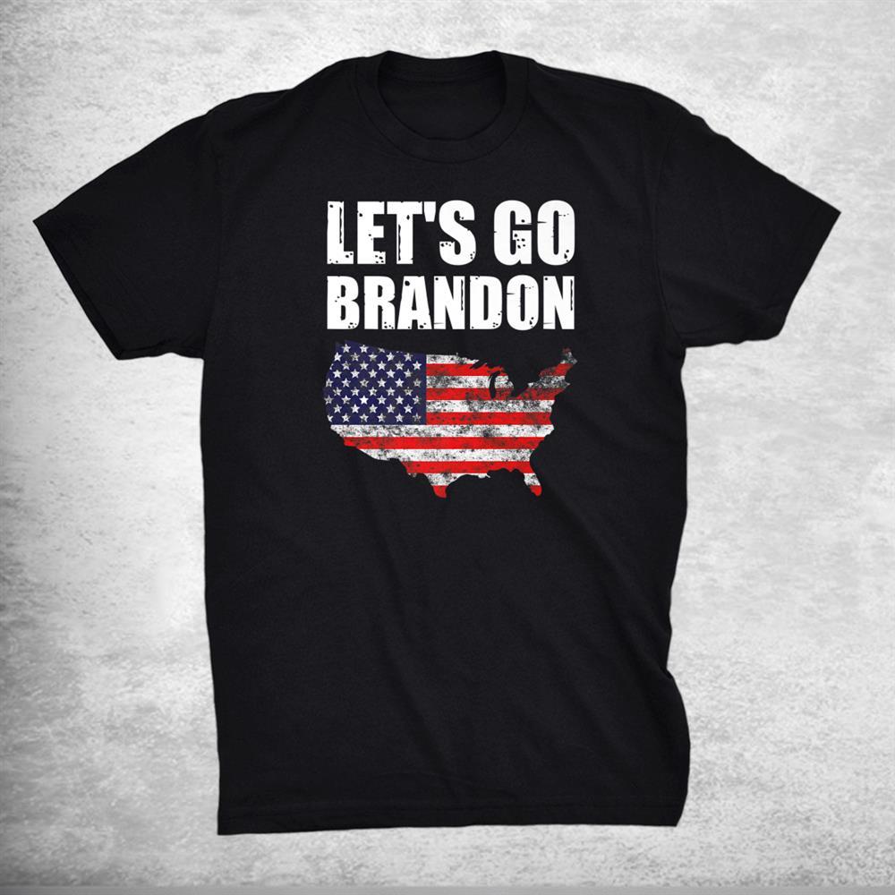 Lets Go Brandon Conservative Anti Liberal Us Flag Premium Shirt