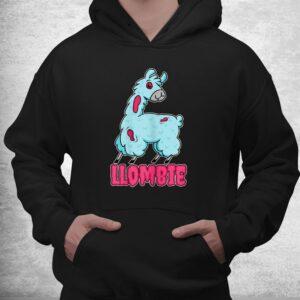 llombie lazy halloween costume spooky zombie llama pun shirt 3