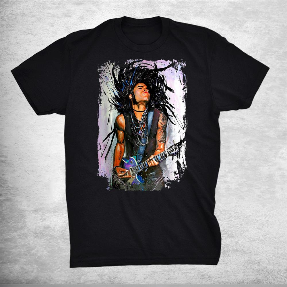Love Lenny Distressed Design Arts Kravitz Singer Shirt