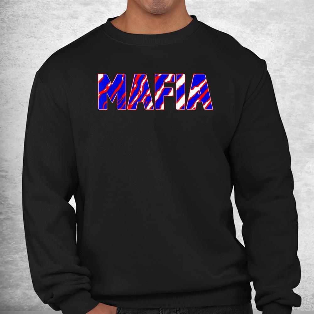 Mafia Buffalo Ny Crazy Zebra Tiger Stripes Shirt