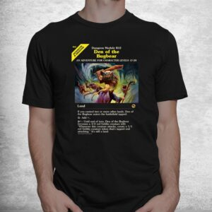 magic the gathering dungeons and dragons bugbear den card shirt 1