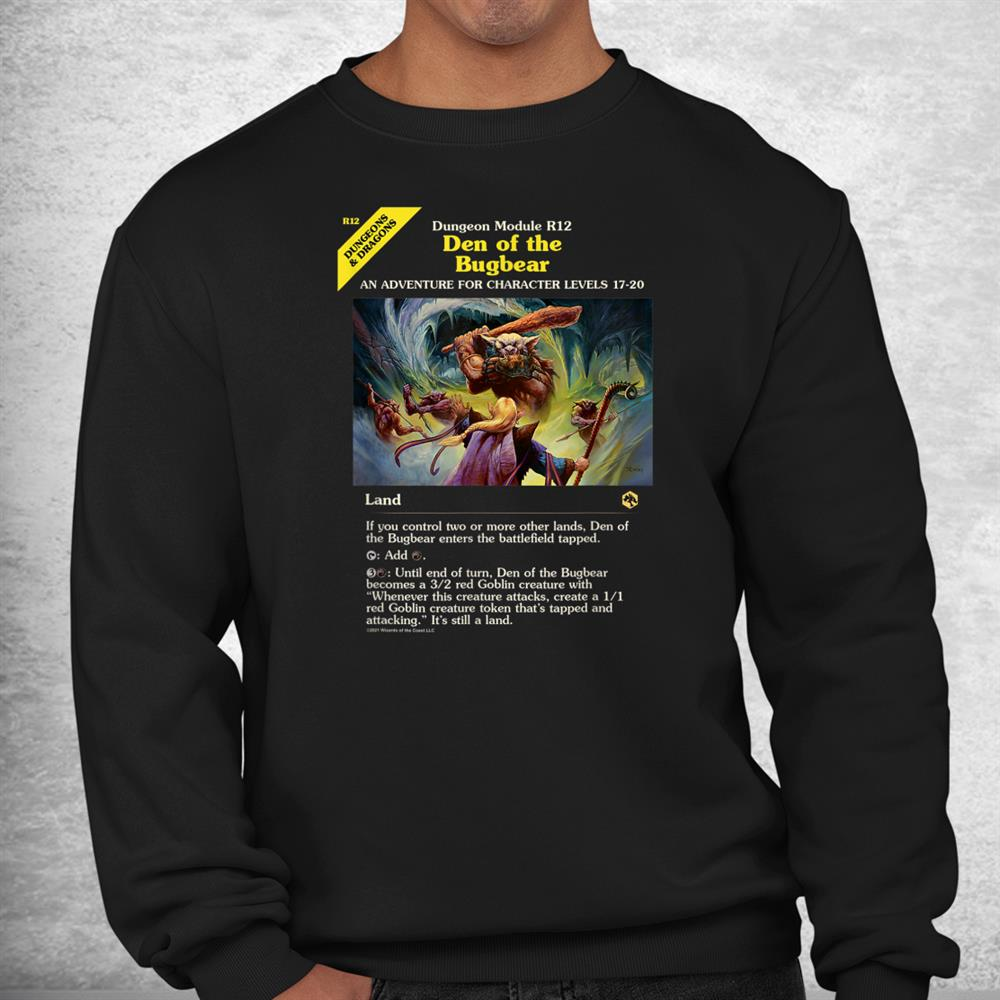 Magic The Gathering Dungeons And Dragons Bugbear Den Card Shirt