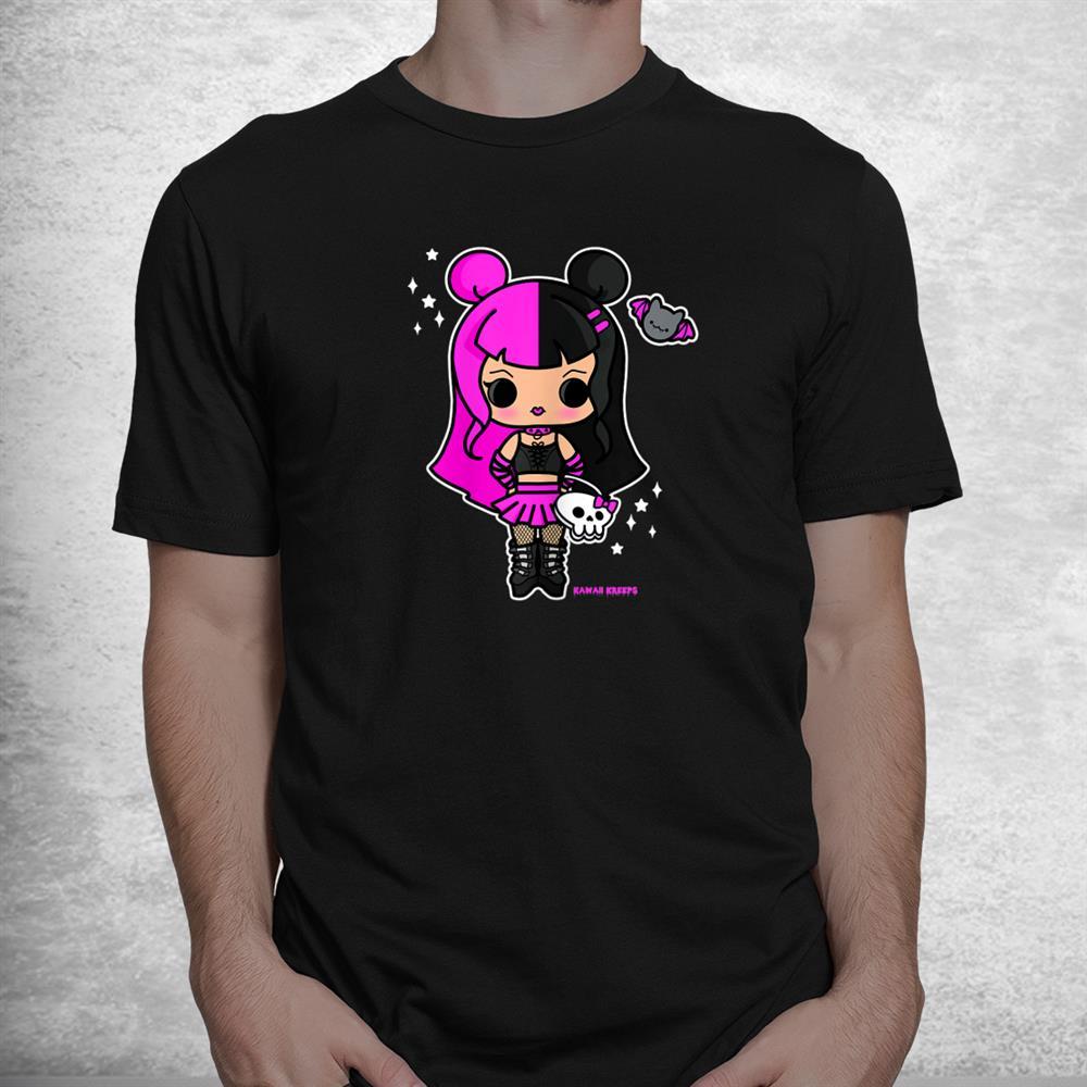 Mall Goth Chibi Girl Drawing Gothic Nu Metal Alt Aesthetic Shirt