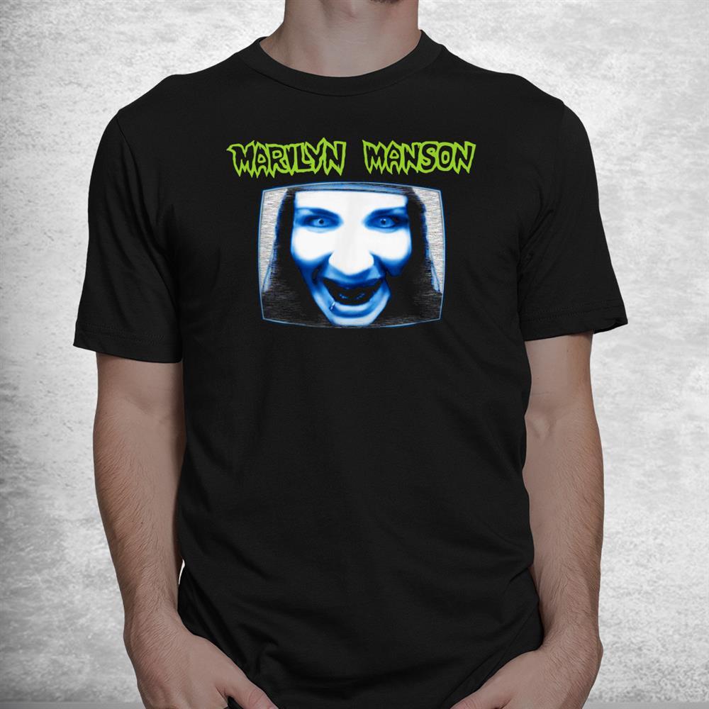 Marilyn Manson Tv With Logo Shirt