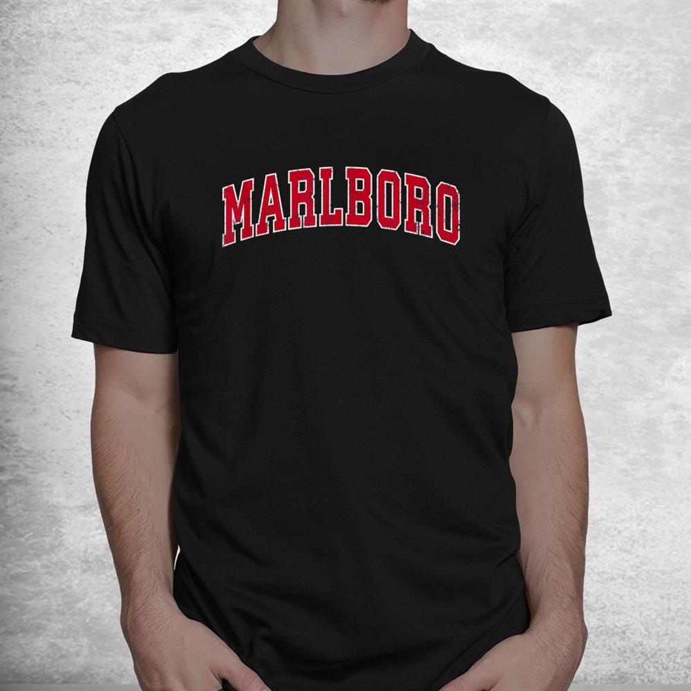 Marlboro New Jersey Nj Vintage Sports Shirt