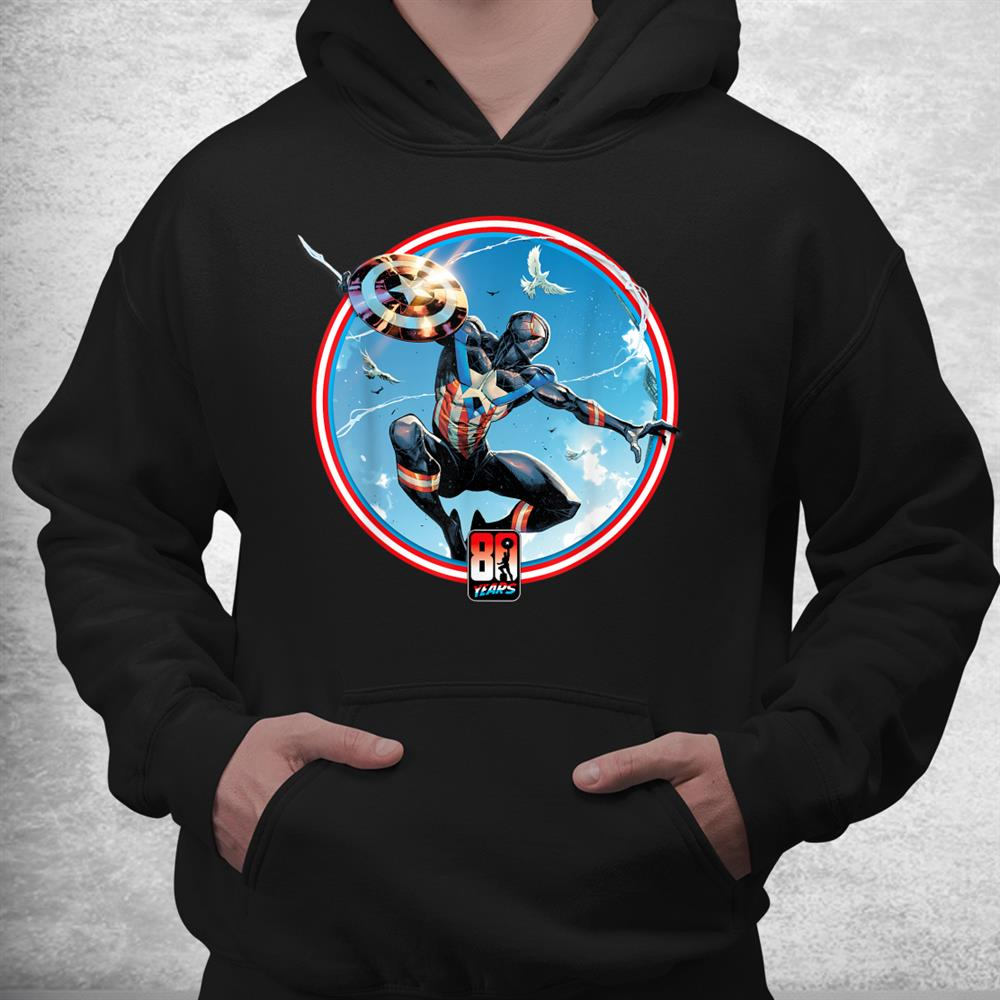Marvel Miles Morales Captain America 80th Anniversary Covers Shirt