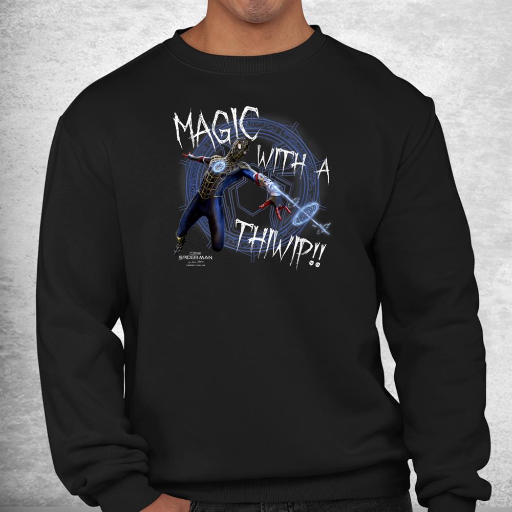 Marvel Spider Man No Way Home Spider Man Magic Thiwip Shirt