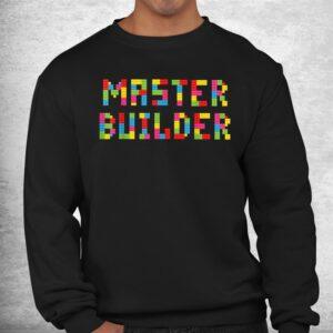 master builder funny kids building blocks toys shirt 2