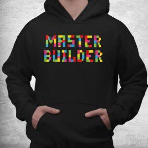master builder funny kids building blocks toys shirt 3