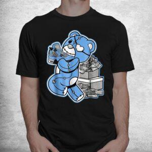 match j ordan 4 university blue shirt 1