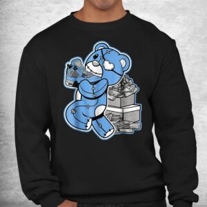match j ordan 4 university blue shirt 2