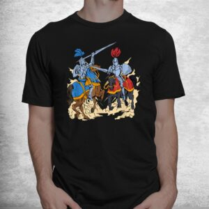 medieval competition on horses jousting shirt 1