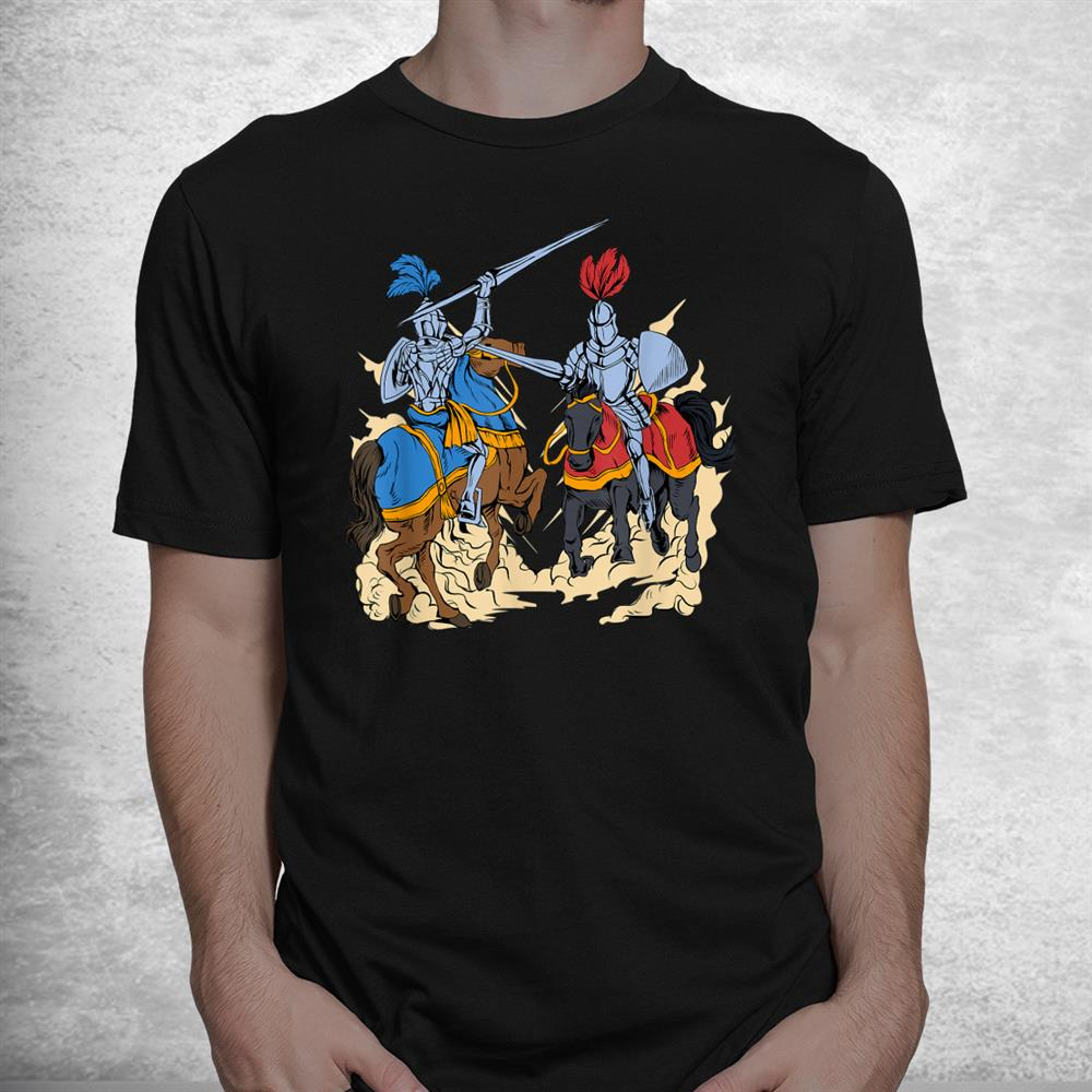 Medieval Competition On Horses Jousting Shirt