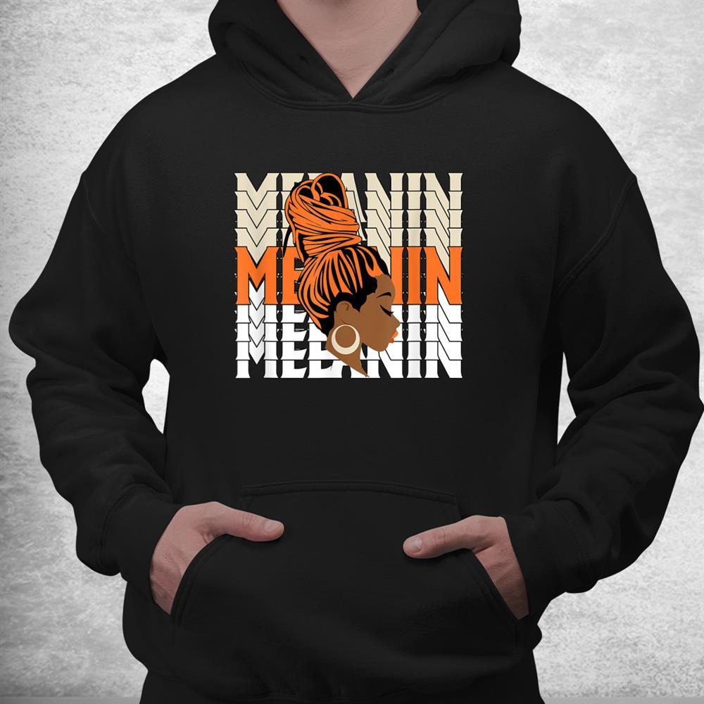 Melanin Queen Girl Womens Og Coconut Milk Orange Halloween Shirt