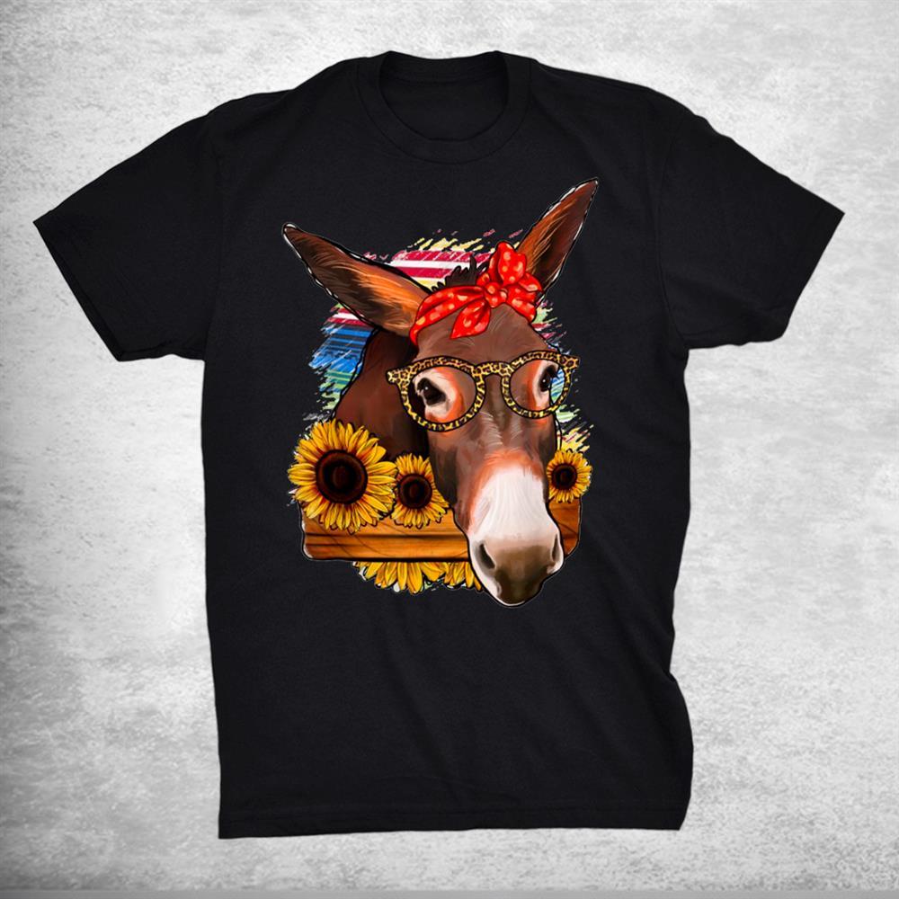 Mexican Serape Glasses Donkey Mom Western Rodeo Cowgirl Girl Shirt
