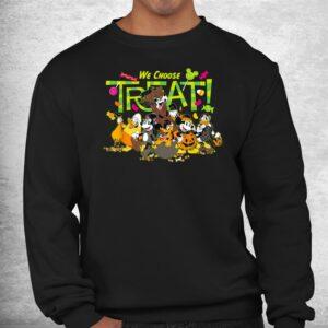 mickey and friends we choose treat halloween shirt 2